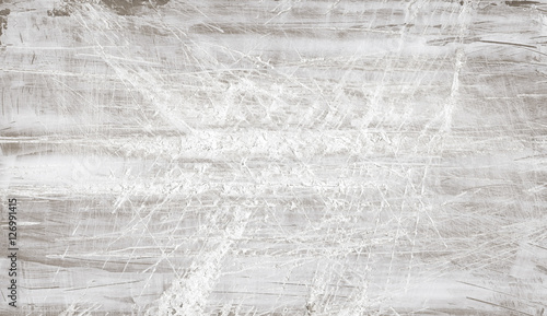 Tuinposter Hout Old scratched wooden texture shabby background