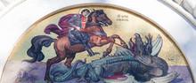 Mosaic Of Saint George At The Church Of Saint Sava In Belgrade