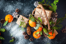 Christmas Tangerines Box Russi...