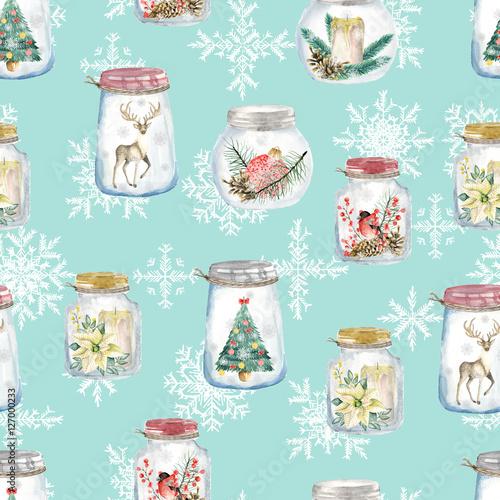 Stoffe zum Nähen Nahtloses Muster mit Weihnachten Glas Gläser