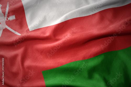 Staande foto Noord Europa waving colorful flag of oman.