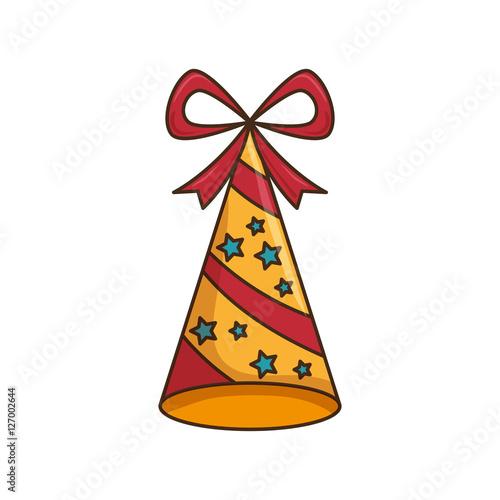 Printed kitchen splashbacks Indians hat party celebration isolated icon vector illustration design