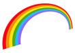 Illustration with rainbow shape(s) isolated on white.