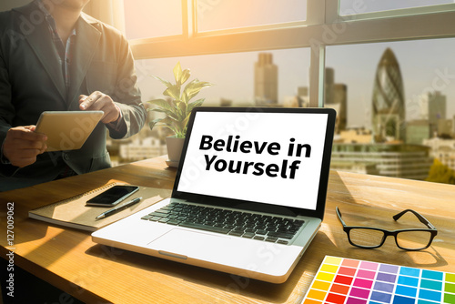 Believe in Yourself  , just Believe on SUCCESS Canvas Print