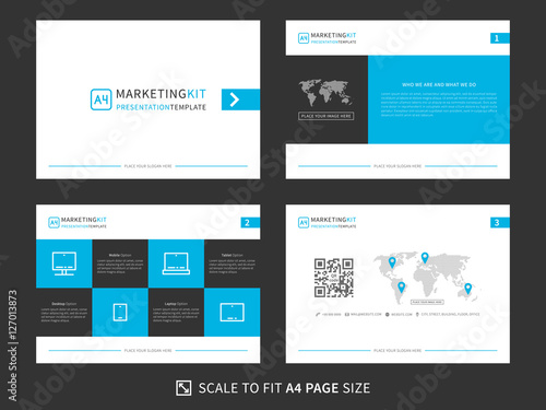 marketing kit presentation vector template modern business presentation creative design power layout with diagrams