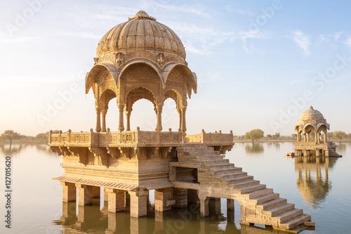 Fototapeta  Gadi Sagar - artificial lake in Jaisalmer, Rajasthan, India