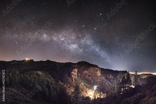 Photo Stands Canary Islands Maspalomas Milky Way