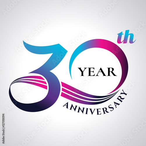 Tela  anniversary emblems 30 in anniversary concept template design