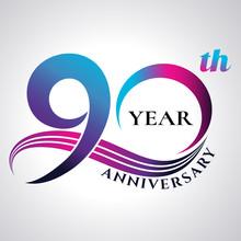 Anniversary Emblems 90 In Anni...