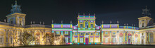 Castle In Wilanow In Holiday Illumination, Warsaw, Poland