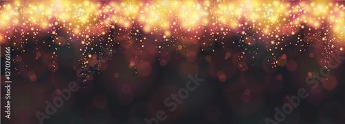 Photo  Neujahr / Silvester Hintergrund oder Banner mit Feuerwerk auf einem schwarzen Hi