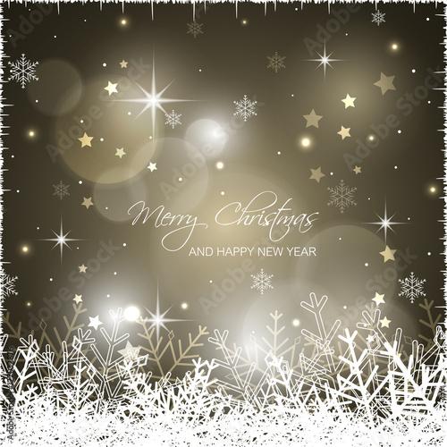Christmas greeting card. Wallpaper Mural