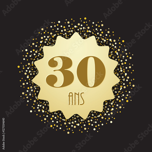 Carte Joyeux Anniversaire 30 Ans Buy This Stock Vector And