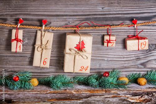 Foto-Doppelrollo - Weihnachtkalender, Adventskalender, Geschenke (von fotoknips)