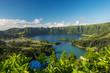 canvas print picture - Sete cidades Vulkansee auf Sao Miguel (Azoren)