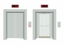 Elevator Open And Closed Doors
