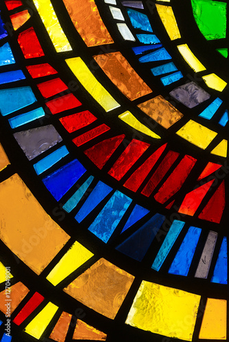 Photo Stained glass detail.