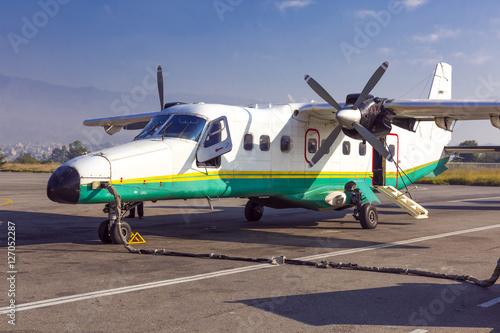 Fotografia, Obraz  Small Turboprop Aircraft at airport