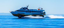 Hydrofoil Boat Runs At Full Sp...