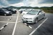 Car parking on blur background,Blur scene.