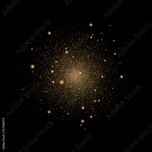 eps 10 premium vector golden glitter explosion, stars in the sky, galaxy, constellation, asterism Canvas Print