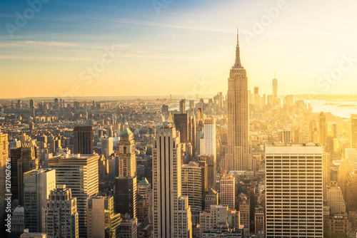 In de dag New York New York City skyline