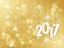 2017 Greeting Card Gold Bokeh ...