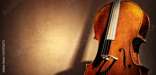 Cello background with copy space for music concept Fotobehang