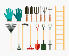Set Of Garden Tools And Garden...