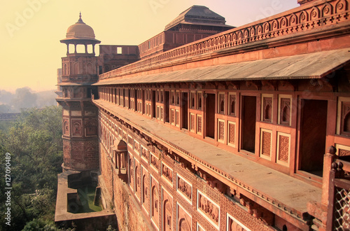 Exterior of Jahangiri Mahal in Agra Fort, Uttar Pradesh, India Canvas Print