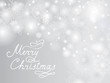 Christmas Holiday background with Snow and Handwritten Greeting