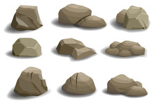 Set Of Different Natural Stone...