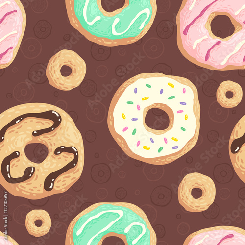Cotton fabric Donuts