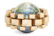 canvas print picture - Global shipping and delivery concept, parcels cardboard boxes ar