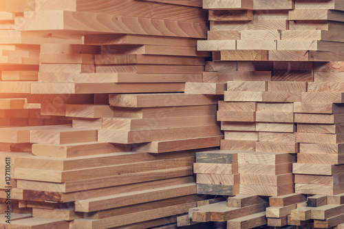 Wood processing. Joinery work. wooden furniture. Wood timber construction material for background and texture. details wood production. composition wood products. small depth of field