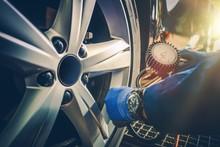 Car Tire Pressure Check