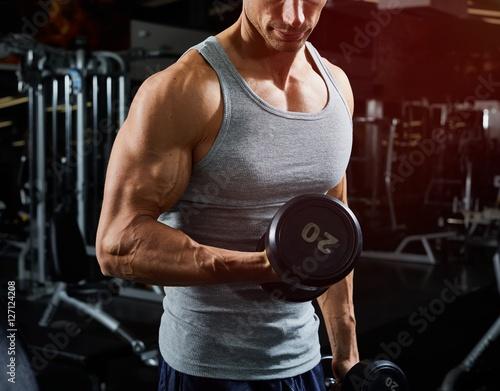 Carta da parati Dumbbell biceps workout
