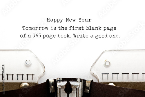 New Year Quote Typewriter плакат