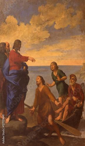 Fotografija  BOLOGNA, ITALY - MARCH 16, 2014: The Painting Jesus call the Apostles St
