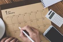 カレンダー テーブルフォト