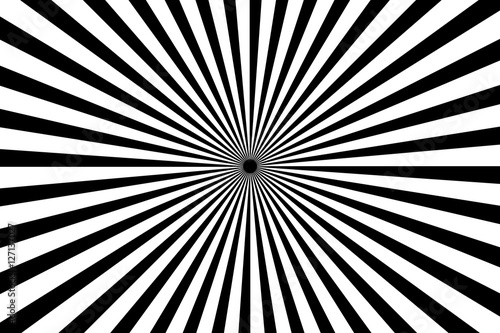 Photo  Black and white radiating lines