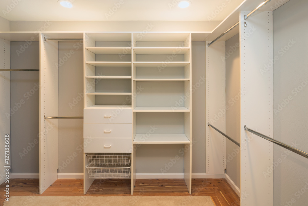 empty walk in closet custom white photo art print big empty walk in wardrobe luxurious house with installed shelves drawer abposterscom
