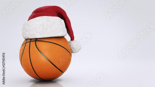 Christmas concept. Orange basket ball. 3d rendering © lchumpitaz