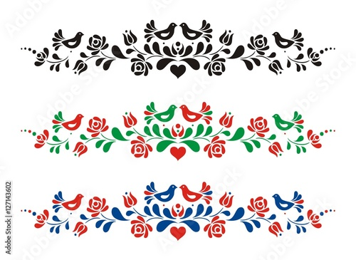 Photo  Hungarian folk vector motif