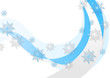 Abstract blue wavy Christmas background
