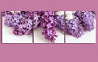Lilac flowers, floral canvas collage, interior decor