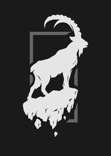 Silhouette Of A Mountain Goat ...