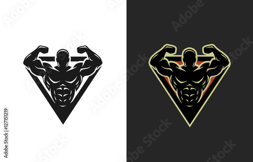 Bodybuilding, logo, two options.