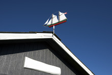 Weather Vane As An Old Sail Ship
