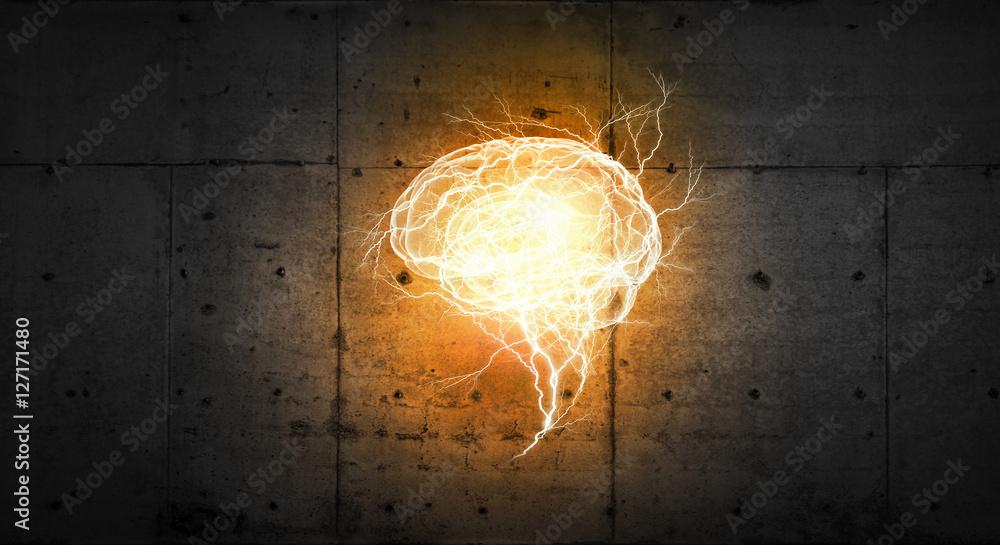 Fototapety, obrazy: Glowing mind image . Mixed media